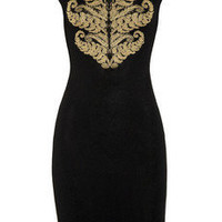 Alexander McQueen | Stretch-crepe intarsia dress | NET-A-PORTER.COM