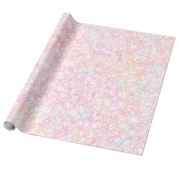 Colorful Modern Strings - Pearl Pastel Wrapping Paper