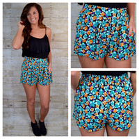 Isla Floral High Waisted Shorts