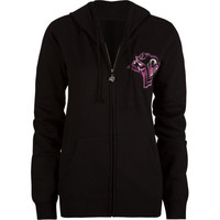 Metal Mulisha Survivor Womens Hoodie Black  In Sizes Medium For Women 16399710003