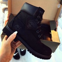 Timberland Fashion Winter Waterproof Boots Martin Leather Boots Shoes H 8-21