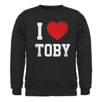 I love Toby Sweatshirt (dark) on CafePress.com