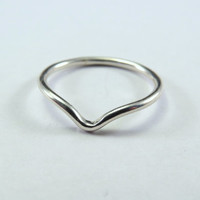 Pointy Chevron ''V'' Sterling Silver Argentium Knuckle - Stacking Ring, Regular Ring OR toe ring. Childrens, Womens, Mens Pick Your Size!