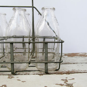 Milk Bottles with Carrier
