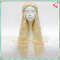 Long Curly Wig Long Light Blonde Wig Game of Thrones Costume Wig Daenerys Targaryen Dragon Princess Wig Long Wavy Braids Cosplay Wigs