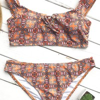 Cupshe Kaleidoscope Of Color Print Bikini Set