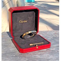 Cartier Love Bracelet size 16 with 4 diamonds 42 points 18K Yellow gold w/ box