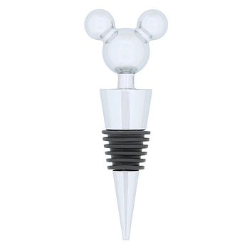 disney parks mickey mouse bottle stopper black new with tag