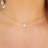 Just Stay Necklace: Gold