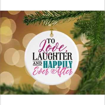 Husband and Wife Wedding Christmas Ornament - Mr. & Mrs. Christmas Ornament - Gifts For Significant Other - Christmas Gift Ideas - RO0026