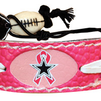Dallas Cowboys Breast Cancer Awareness Ribbon Pink NFL Football Bracelet