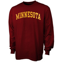 Minnesota Golden Gophers Vertical Arch Long Sleeve T-Shirt - Maroon