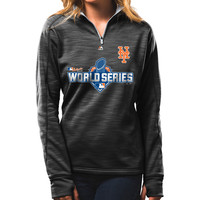 New York Mets Women's 2015 Authentic Collection World Series Participant 1/4 Zip by Majestic Athletic - MLB.com Shop