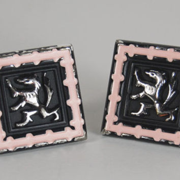 Vintage Hickok Cuff Links with Lions, Silver Cuff Links, Mad Men Fashion, Mid Century Style, 1950 Retro