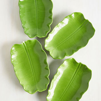 Leaf Some For Me Plate Set | Mod Retro Vintage Kitchen | ModCloth.com