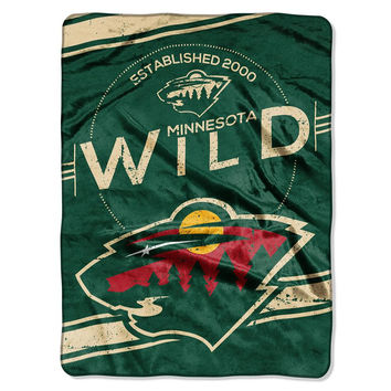 Minnesota Wild NHL Royal Plush Raschel Blanket (Stamp Series) (60x80)