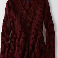 AEO Women's Side Zip Sweater