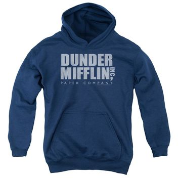 The Office - Dunder Mifflin Distressed Youth Pull Over Hoodie