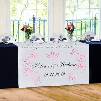 Personalized Crown Pattern Reception Desk Table Runner/Wedding Decoration/Wedding Table Centerpieces