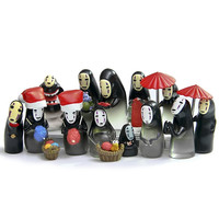 15 Styles No Face Mini Figures Studio Ghibli Miyazaki Hayao Spirited Away No Face PVC Action Figure Toys Collection Model Toy