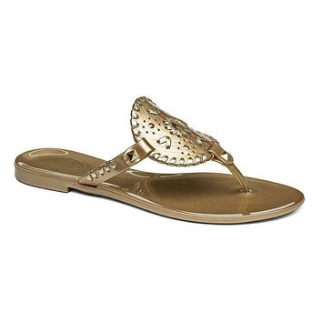 Georgica Jelly Sandal in Gold by Jack Rogers