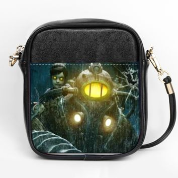 Bioshock Big Daddy and Little Sister Purse