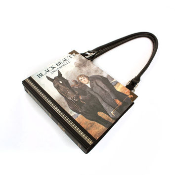 Black Beauty Bookpurse - Purse made from Vintage Book - Perfect for a horse lover, girly girl, teen or adult