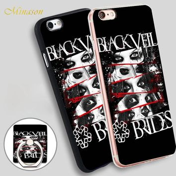 Minason Black Veil Brides Mobile Phone Shell Soft TPU Silicone Case Cover for iPhone X 8 5 SE 5S 6 6S 7 Plus