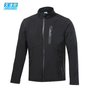 ARSUXEO Men's Cycling Jacket Winter Thermal Fleece Warm Up MTB Bike Jacket Wind Bicycle Clothing Windproof Running Sports Coat