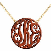 Monogram Acrylic Necklace Tortoise .. on Luulla