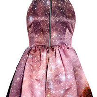 Christopher Kane | Galaxy-print silk-satin dress | NET-A-PORTER.COM