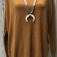 Here Comes the Sun Sweater- Mustard