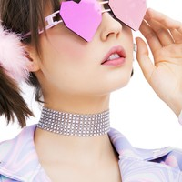Pink Heart Speqz Sunglasses