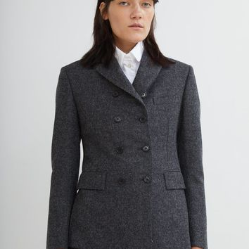 Shetland Wool Pintuck Jacket by Thom Browne- La Garçonne