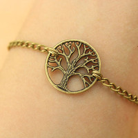 bracelet--tree of life bracelet,antique bronze charm bracelet,mother gift