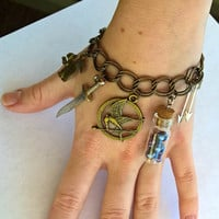 Hunger Games Steampunk Katniss Everdeen Charm Bracelet