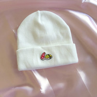 Embroidered Sushi Beanie Hat
