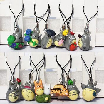 Totoro Straps PVC Action Figures 12 Pieces Total