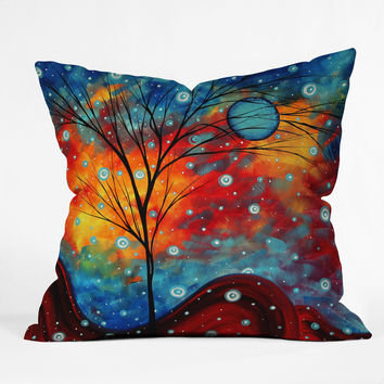 Madart Inc. Summer Snow Throw Pillow