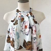 CALISTA FLOW TOP- WHT FLORAL