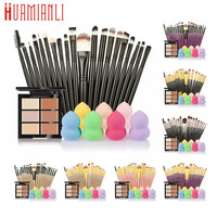 Professional Cosmetic Set 6-Color Concealer +20 Makeup Brush + Water Puff Puff Powder Puff Makeup Set jan12