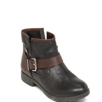 Rough Flat Ankle Bootie in Black - BCBGeneration