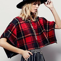 Free People Womens Newbury Structured Poncho