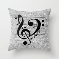 Love Music Throw Pillow by Richard Casillas | Society6