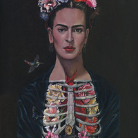Frida Kahlo Limited Edition Print 13x19 by Cate Rangel
