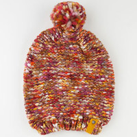 Billabong Freedom Ringz Beanie Orange One Size For Women 22382170001