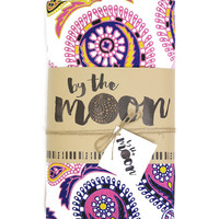 By The Moon - Phoenix Mandala Throw - Round - Purple/Yellow