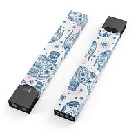 Skin Decal Kit for the Pax JUUL - Ethnic Navy Seamless Aztec Elephant
