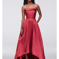 Satin High-Low Ball Gown - Davids Bridal