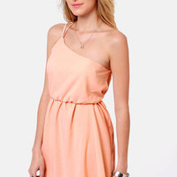 Sipping Sweet Tea Peach Dress